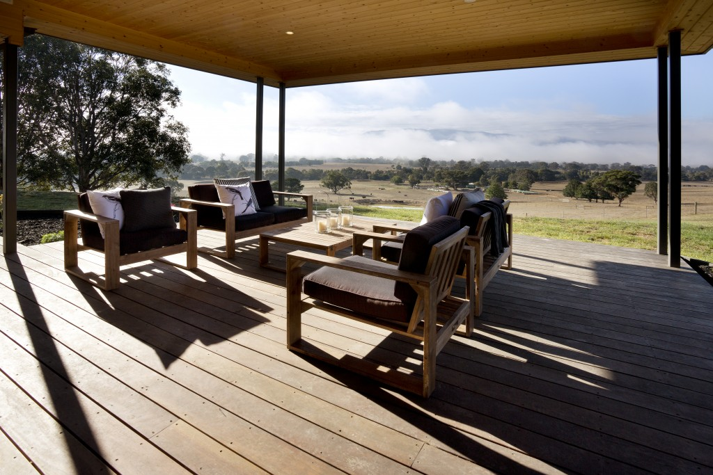 Peaceful verandah with views.